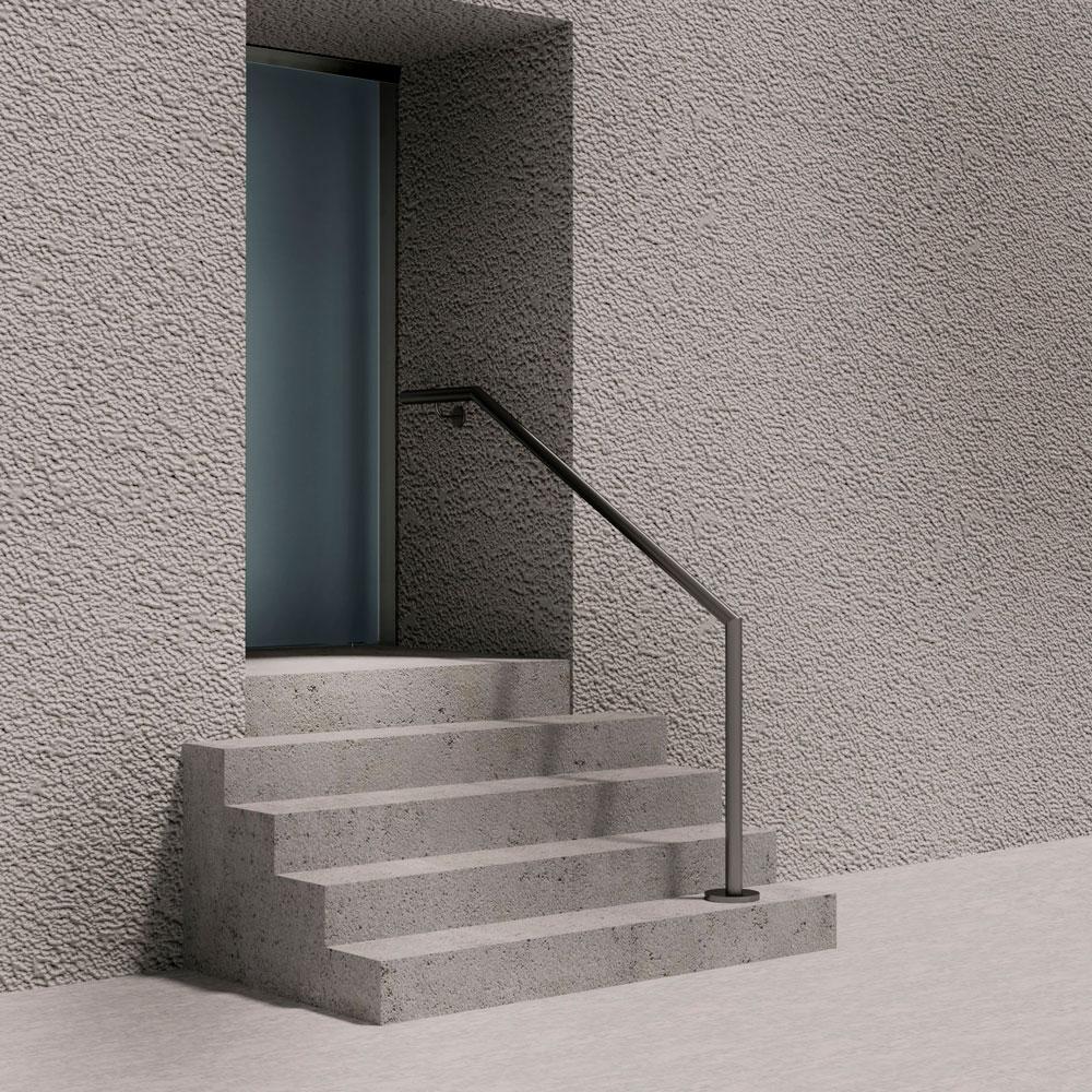 Treppenhandlauf abgewinkelt seitliche Wandtreppe